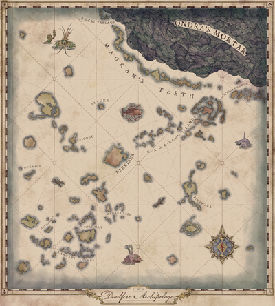 Pillars Of Eternity World Map Complete.Pillars Of Eternity Ii Deadfire World Map De Official Pillars Of