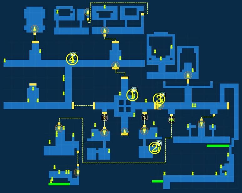 Quest Map of City of Trials Dendalio