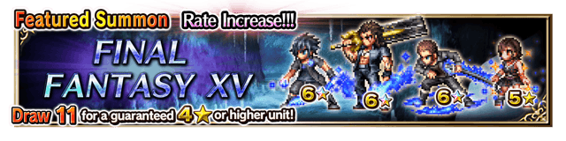 Featured Summon for Final Fantasy XV