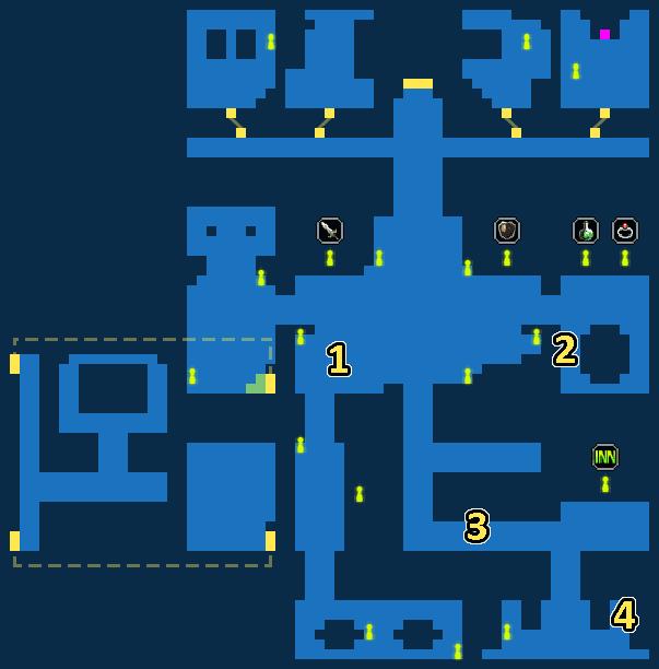 Quest Map of Raven's Hideaway