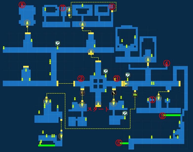 Map of City of Trials Dendalio