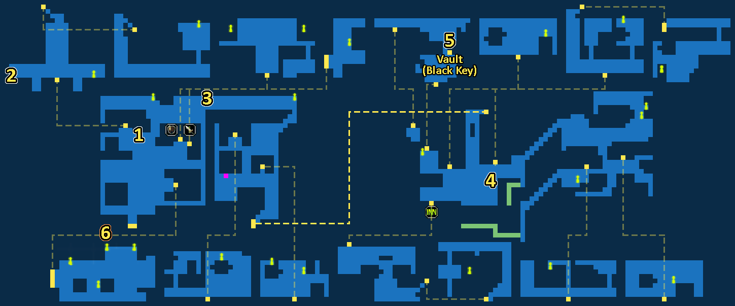 Quest Map of Underworld Gaberada