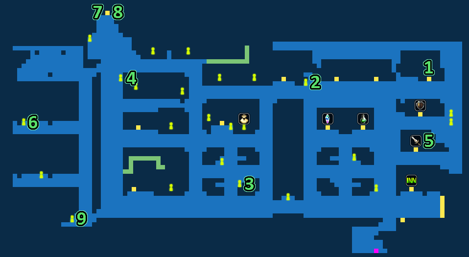 Quest Map of Port City Lodin