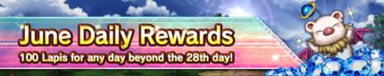June Daily Login Rewards