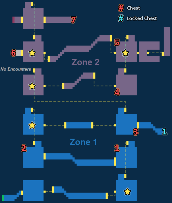 Encounter Map of Runferia Castle