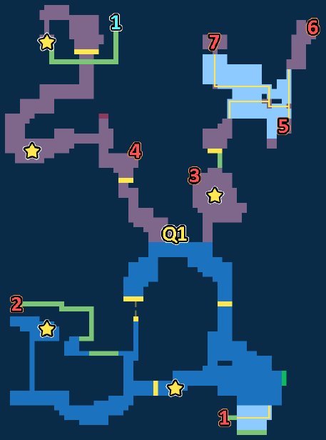 Encounter Map of Snowy Woods