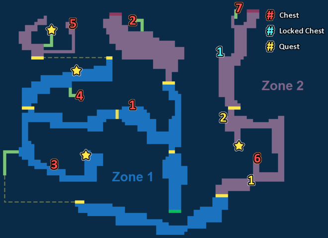Encounter Map of Sky Cave