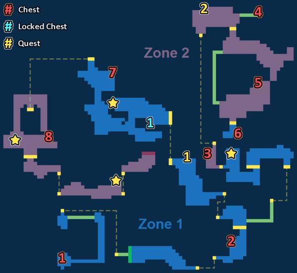 Encounter Map of Roaring Volcano
