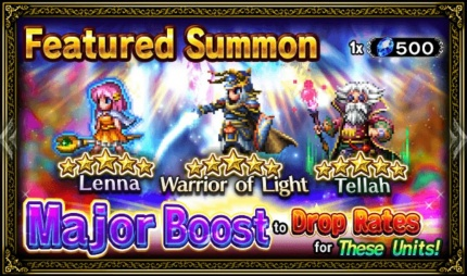 Unit Release: Warrior of Light, Lenna, and Tellah