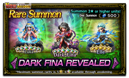 Featured Summon for Dark Fina Revealed