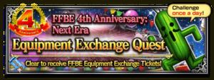 FFBE 4th Anniversary: Next Era - Equipment Exchange Quest