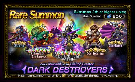 Featured Summon for Dark Destroyers