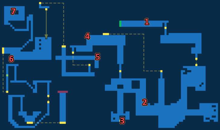 Treasure map of Destroy the Reactor - Exploration