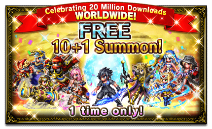 Featured Summon for Celebrating 20 Million Downloads