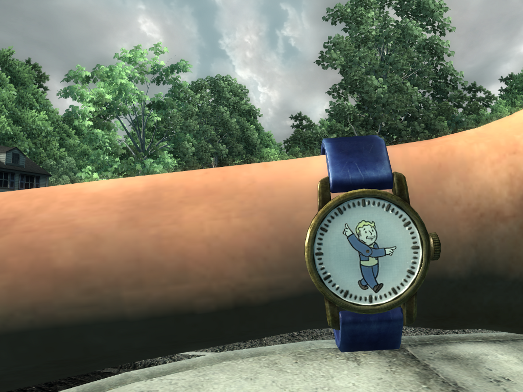 Vault Boy watch in color