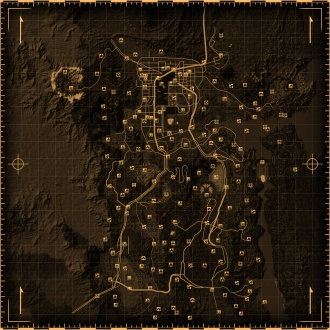 Fallout Las Vegas Map.Fallout New Vegas Locations The Vault Fallout Wiki Everything