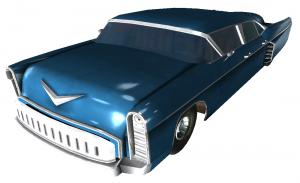 A pristine Crovega sedan in Fallout 3