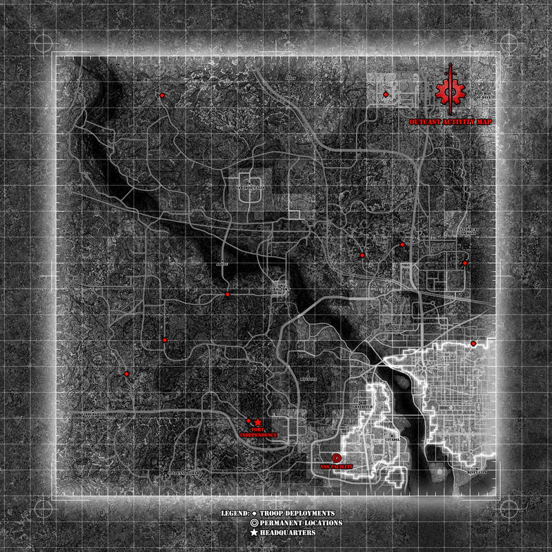Map of Outcast activity