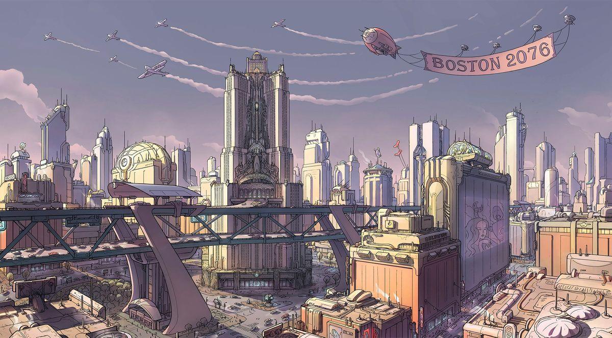 Boston the vault fallout wiki everything you need to know about fallout 76 fallout 4 new - Fallout new vegas skyline ...