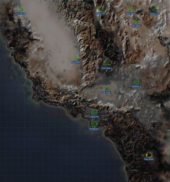 New Vegas World Map.Fallout Locations The Vault Fallout Wiki Everything You Need To