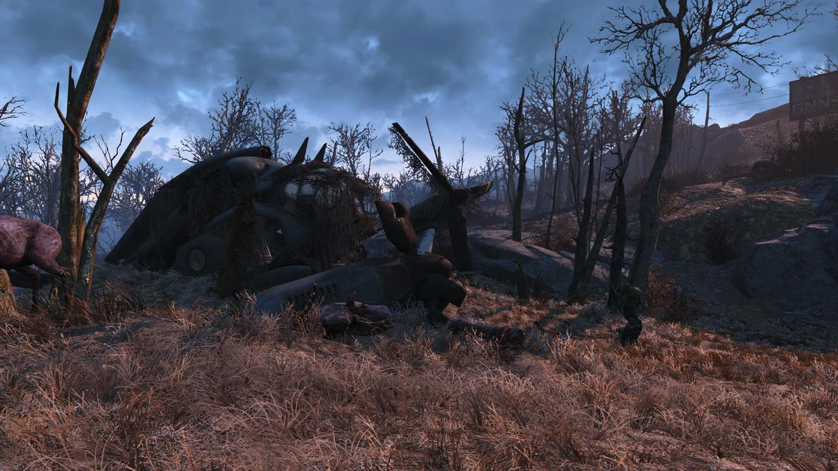 Crashed Vertibird (near robotics disposal ground) - The
