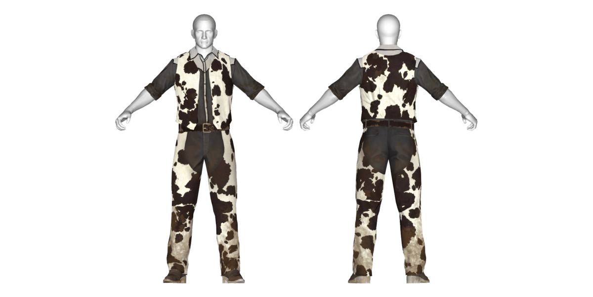 Cowhide western outfit (Fallout 76) - The Vault Fallout Wiki