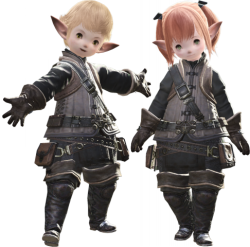 Lalafell male female.png