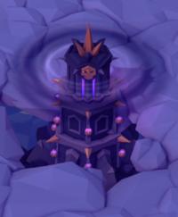 The dungeon Harazuel , hidden in the fog of battle.