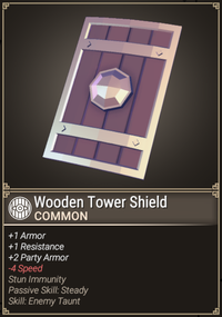 Wooden Tower Shield