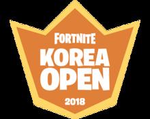 fortnite korea open 2018 png - fortnite logo top 1 png
