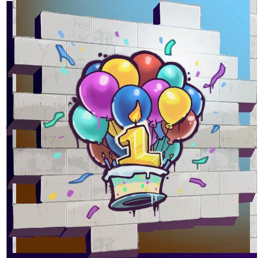 Happy Birthday! (spray) - Fortnite Wiki