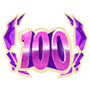 Season 6 Level 100Emoticon.png