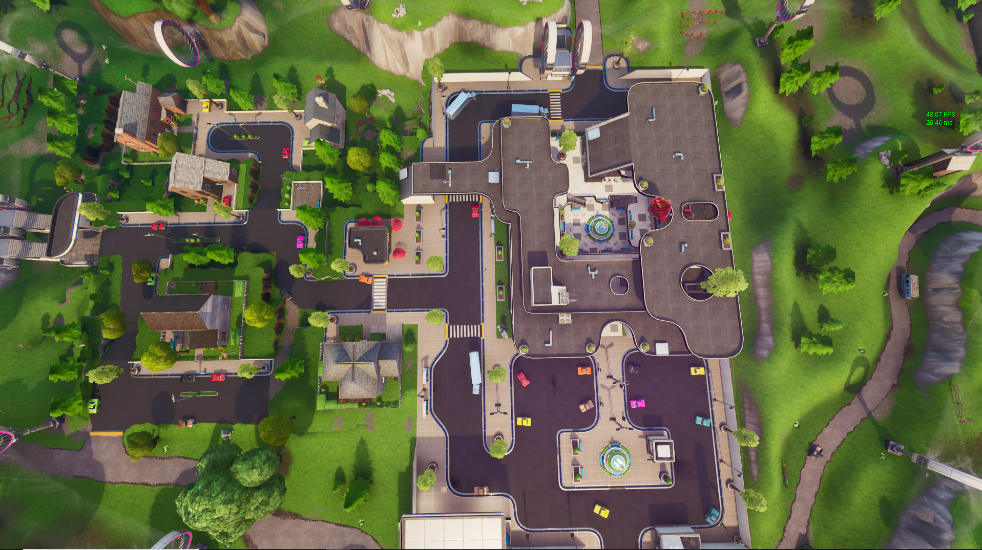 graphic relating to Printable Fortnite Map titled Mega Shopping mall - Fortnite Wiki