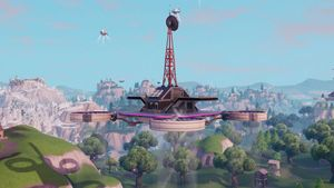 sky platform located north of fatal fields