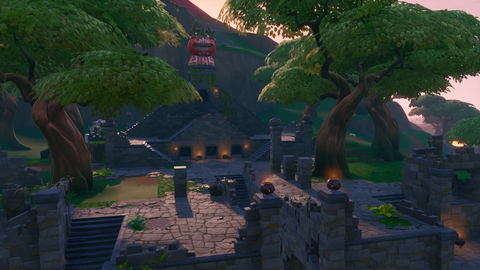 the temple in season 8 - where do apples spawn in fortnite season 8