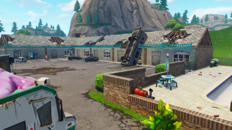 motel was a poi located north coordinates d2 northeast of pleasant park and west of lazy links it is a rundown motel with an empty pool a small shack - pleasant park fortnite map