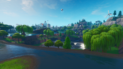 loot lake briefly known as leaky lake is an area on the battle royale map located at central north coordinates d4 e4 e5 southeast of pleasant park - fortnite loot lake construction