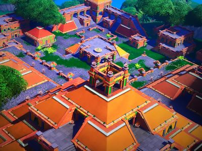 sunny steps is an aztec themed location with a series of colorful orange temples pyramids and shrines on the battle royale map located at coordinates i2 - shrines fortnite