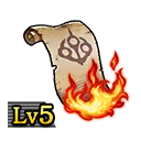 Scroll of Flames Lv5