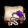 Purple Blossom Headband Diagram