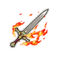 Scarlet Flame Guard's Sword - White-Silver