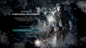 Fear of the Storm - A mob storms the stockpiles.png