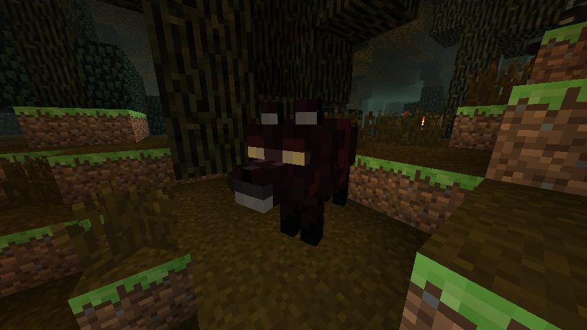 A Mist Wolf in the Dark Forest.
