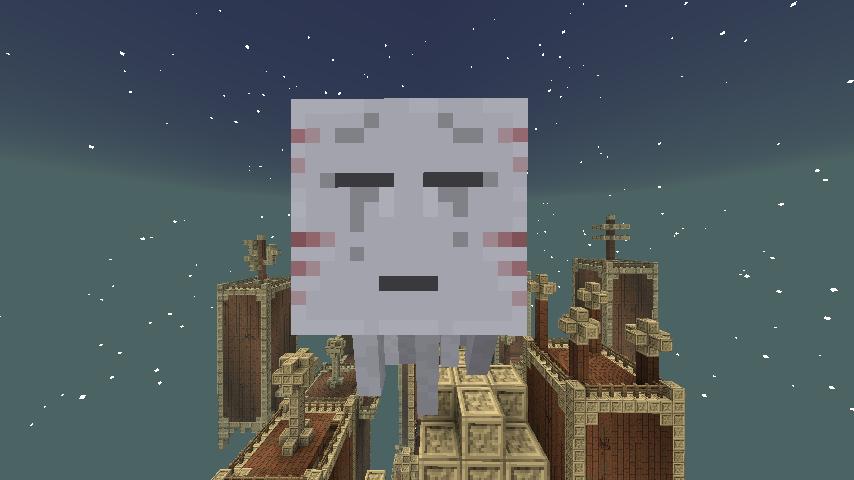 A Carminite Ghastguard outside a Dark Tower.