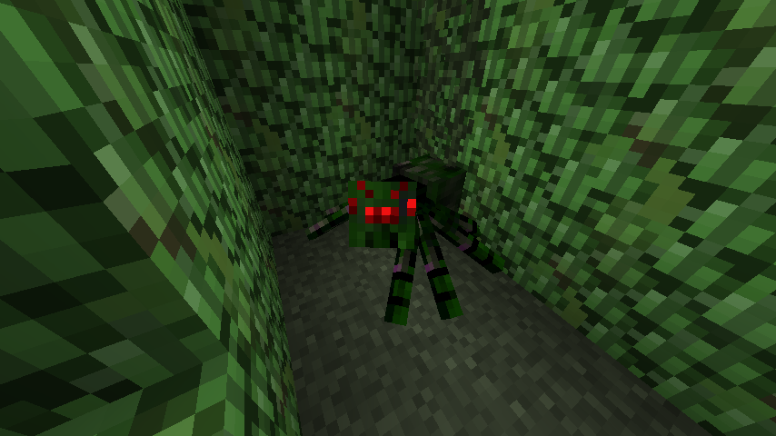 A Hedge Spider in a Hedge Maze.