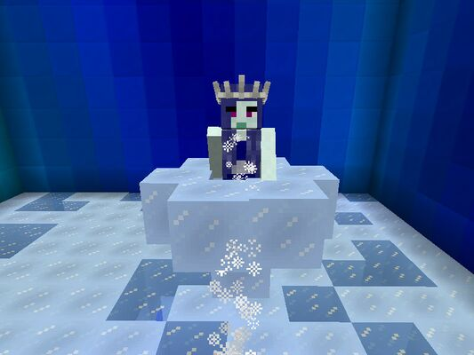 The Ice Queen on her throne