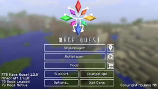 FTB Mage Quest 1710 Mainmenu.png