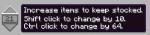 Production limitation GUI.