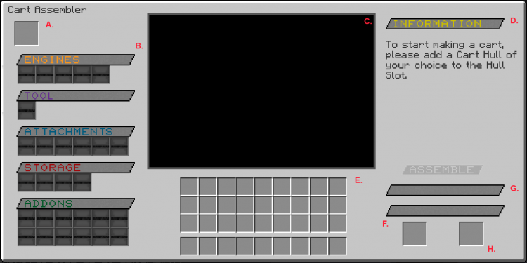 The Cart Assembler GUI