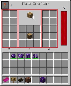 The Auto Crafter's GUI.